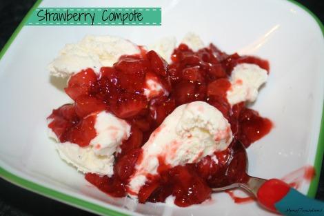 strawberries ice cream